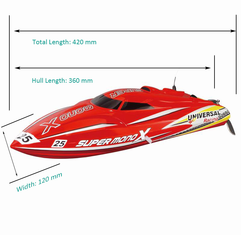 Sizes of ARTR Brushless Fast Power Speed Boat for Sale Super mono X 8209