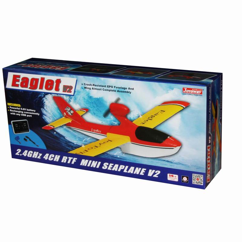 Color Box of RTF Radio Controlled Brushed Power Seaplane Aircraft Kit