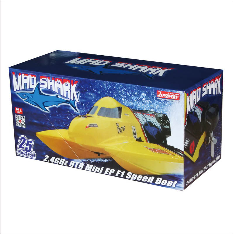 Color Box of Brush Mini F1 Power Speed Boat Mad Shark 8203
