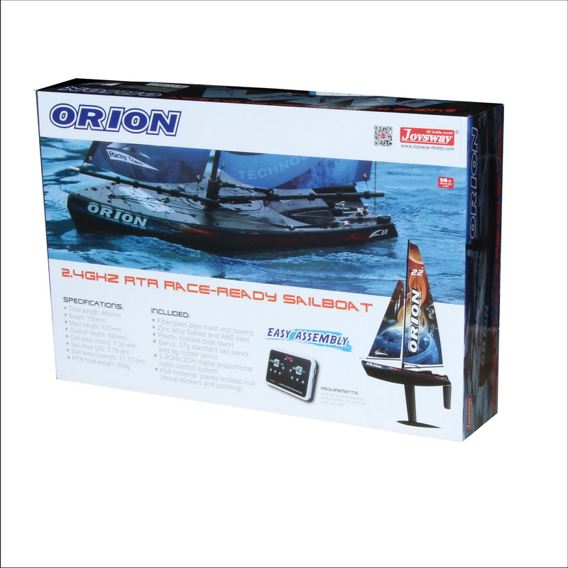 Color Box of Small Battery Operated RC Sailing Ship for Children Joysway ORION 8803