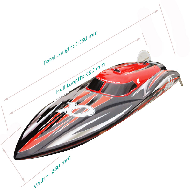Sizes Display of Super Fast Biggest Brushless Speed Boat for Adults alpha 8901R