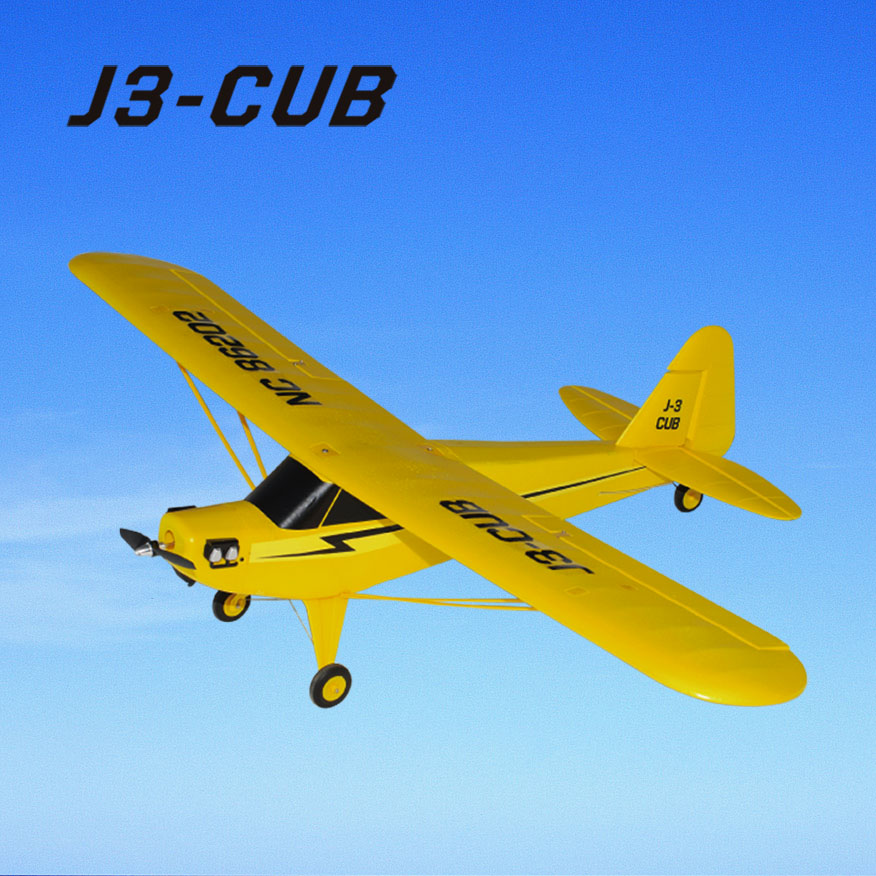 RC Brushless Power Trainer Aeroplane J3-Cub 6202