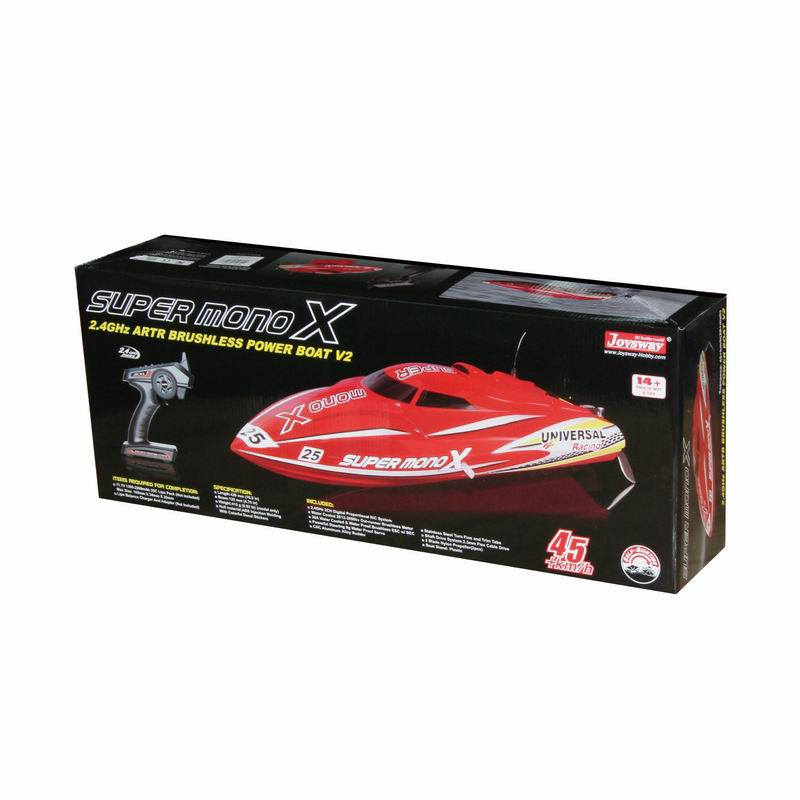 Color Box of ARTR Brushless Fast Power Speed Boat for Sale Super mono X 8209