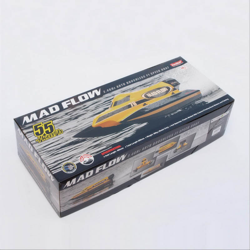 Color Box of New ARTR Brushless F1 Power Speed Boat Mad Flow 8653