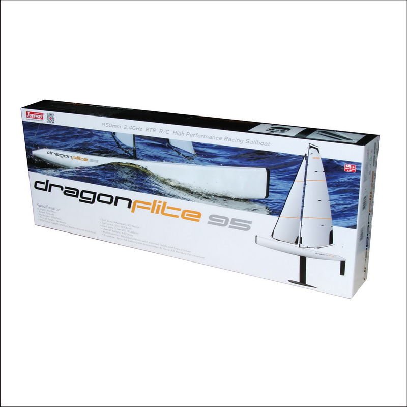 Color Box of Big Fast Racing RC Sailing boat for Adults Joysway DragonFlite95 8815
