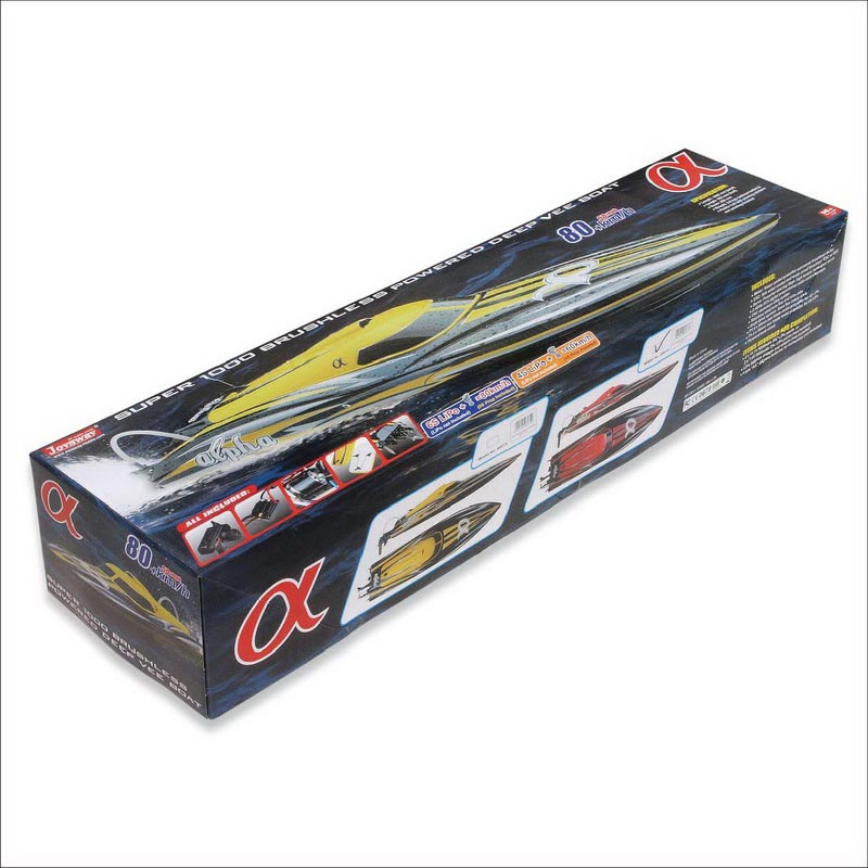 Color Box of Super Fast Biggest Brushless Speed Boat for Adults alpha 8901R