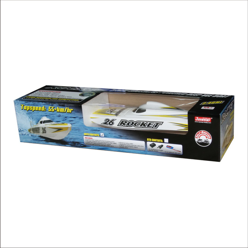 Color Box of High Speed ARTR Brushless Speed Boat Rocket 8651