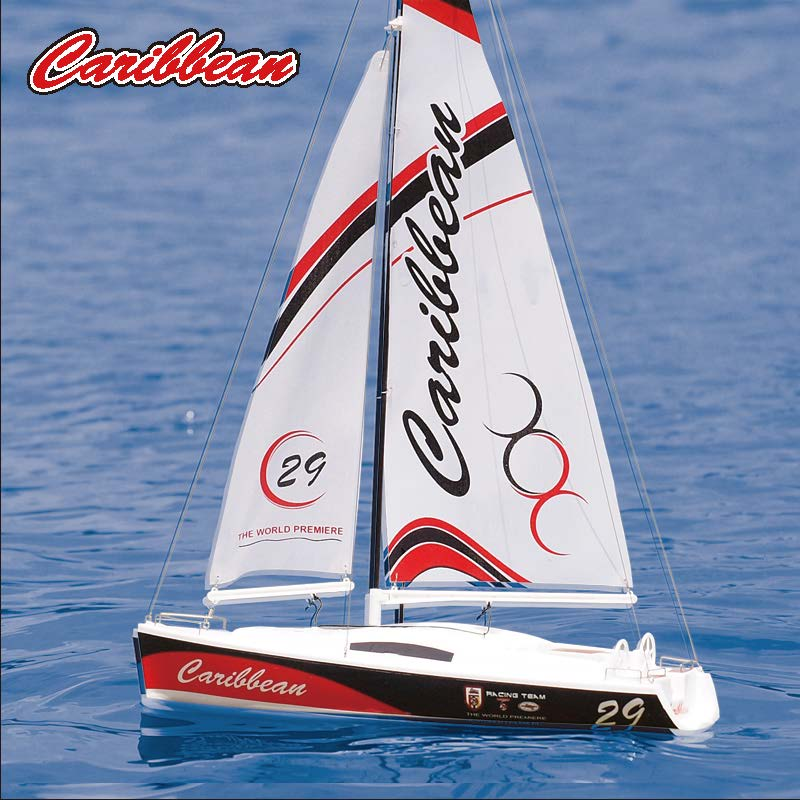 Micro Toy RC Sailing Yacht kit for Kids Joysway Caribbean 8802