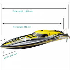 Alpha Super 1000 Brushless Power Deep Vee Speed Boat 8901Y