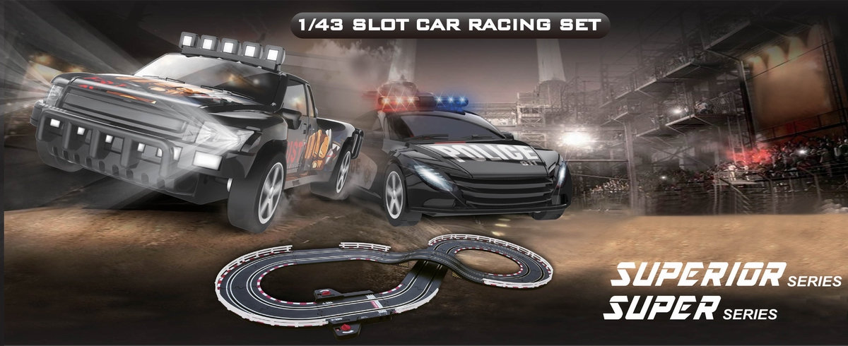 Digital 1:43 Scale Slot Car Racing Set